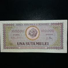 100000lei 1947 aunc plus - Bancnota romaneasca