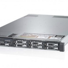 Server DELL PowerEdge R620, Rackabil 1U, 2 Procesoare Intel Octa Core Xeon E5-2680 2.7 GHz, 32 GB DDR3 ECC Reg, 4 x 256 GB SSD Samsung Nou, Raid Con