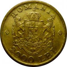 ROMANIA, 2000 LEI 1946 * cod 57.7 - Moneda Romania, Alama