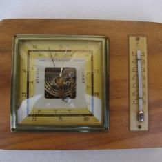 Barometru si termometru functional stil Art Deco, provenienta suedeza