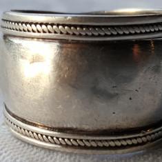 Inel argint etnic TRIBAL vintage VECHI lat executat manual SUPERB de Efect