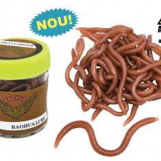 Borcan rame silicon Baracuda Putenic aromatizate (earthworms) - Momeala artificiala Pescuit