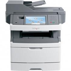 Imprimanta Multifunctionala LaserJet Monocrom, A4, Lexmark X466de, 40 pagini/minut, 80.000 pagini lunar, 1200x1200 DPI, Duplex, USB, Network, Fax, S