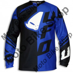 Tricou motocross Ufo Cluster, albastru, L,