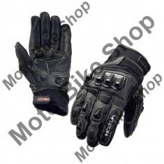 Manusi piele M-Tech Amon, negru, L=10, - Manusi moto
