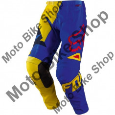 Pantaloni motocross Fox 180 Vandal, galben/albastru, 30, - Imbracaminte moto