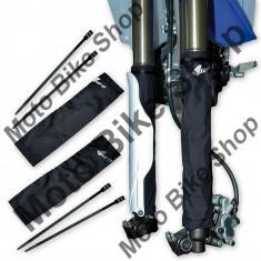 Protectii telescoape fata, negre, material textil, - Componente moto