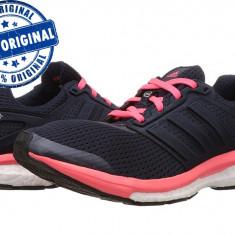 Pantofi sport Adidas Supernova Glide Boost 7 pentru femei - adidasi originali - Adidasi dama, Culoare: Negru, Marime: 36 2/3, 37 1/3, 38, 39 1/3, Textil