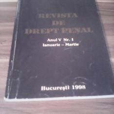REVISTA DE DREPT PENAL ANUL V NR.1 IAN.-MARTIE 1998 - Carte Drept penal