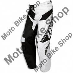 Pantaloni motocross Ufo Cluster, negru/alb, 48, - Imbracaminte moto