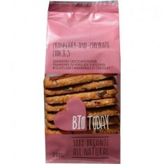 Biscuiti cu merisor si ciocolata bio 200g SMAAK - Dulciuri