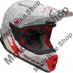Casca motocross Scott Airborne, alb/rosu, M,