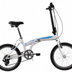 Bicicleta Pliabila DHS Folding 2095 (2017) Alb-Albastru