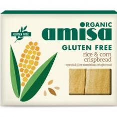 Crispbread (painici) din orez si porumb fara gluten bio 150g - Paste fainoase