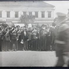 SATU MARE - CEREMONIE MILITARA -OFICIALITATI FRAC, JOBEN - PERIOADA INTERBELICA - Carte Postala Transilvania dupa 1918, Necirculata, Fotografie