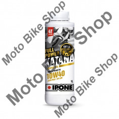 Ulei moto 4T Ipone Full Power Katana 10W40 100% Sintetic ESTER - JASO MA2 - API SM, 1L, - Ulei motor Moto