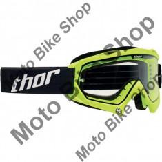 Ochelari cross/enduro S14 Enemy Thor, verde fluorescent, sticla transparenta, S, - Ochelari moto