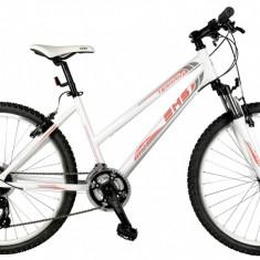 Bicicleta DHS Terrana 2624 Alb/Rosu – 457mm - Mountain Bike
