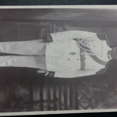 FOTOGRAFIE MILITARA VECHE - OFITER SUPERIOR ROMAN IN TINUTA DE GALA -INTERBELICA