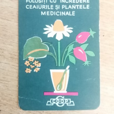 CCO 1967 - CALENDAR DE COLECTIE - TEMATICA RECLAMA - PLANTE MEDICINALE - 1967 - Calendar colectie