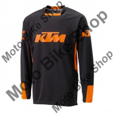 Tricou motocross KTM Pounce, negru/portocaliu, S,