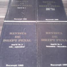 REVISTA DE DREPT PENAL ANUL II NR.1/2/3/4 IANUARIE-DECEMBRIE 1995 - Carte Drept penal