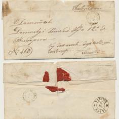ROMANIA Moldova plic oficial aprox 1860 stampile Botosani Iasi Tecuci