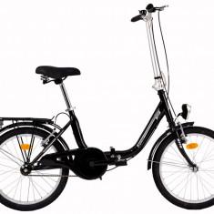 Bicicleta Pliabila DHS Folding 2092 (2017) Cadru 350mm Negru