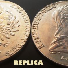 REPLICA argintata dupa moneda Thaler (Taler) - anul 1780