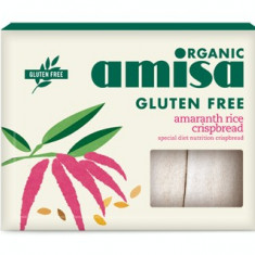 Crispbread (painici) din orez si amaranth fara gluten bio 150g - Paste fainoase