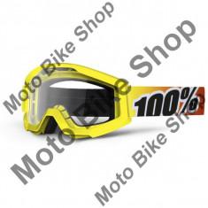 Ochelari motocross 100% Strata, galben, sticla clara,