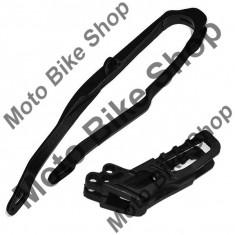 Kit patina + ghidaj lant (HO03691/HO03671) Honda CR 05-06, negre, - Manete Ambreiaj Moto