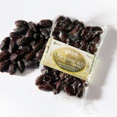 Masline negre Botija cu samburi si ierburi raw bio 150g - Fructe
