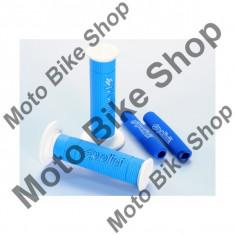 Mansoane moto/scuter Polini Big Evolution + protectii manete, albastru/alb,
