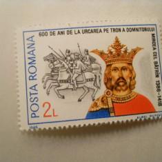 1986  LP 1161 600 DE ANI DE LA URCAREA PE TRON A DOMNITORULUI MIRCEA CEL BATRAN