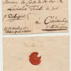 Plic prefilatelic Transilvania de la Viena la Cluj 1788 spre contele Teleki
