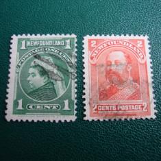SERIE NEWFOUNDLAND ANGLIA/COLONII, Stampilat