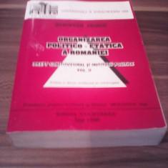ORGANIZAREA POLITICO-ETATICA A ROMANIEI-DREPT CONSTITUTIONAL SI ISTITUTIILE POLI