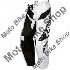 Pantaloni motocross Ufo Cluster, negru/alb, 56, - Imbracaminte moto