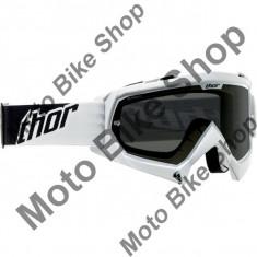 Ochelari cross/enduro S13 Enemy Sand Thor, alb/negru, sticla fumurie, S, - Manete Ambreiaj Moto