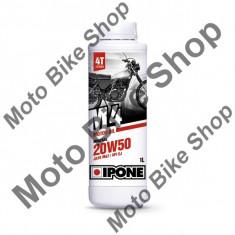 Ulei moto 4T Ipone M4 20W50 Mineral - JASO MA2 - API SJ, 1L, - Manete Ambreiaj Moto
