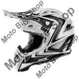 Casca motocross Airoh Aviator 2.1 Arrow White Gloss, alb-carbon, M=57-58,