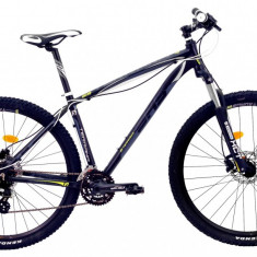 Bicicleta DHS Terrana 2927 (2017) Negru-Albastru, 457mm - Mountain Bike