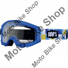 Ochelari cross/enduro Strata Frisbee Clear, 100.00%, albastru, sticla incolora, - Ochelari moto
