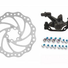 Kit frana disc mecanica fata MTB 160mm - Piesa bicicleta