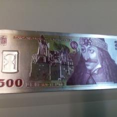 Bancnota 500 lei Vlad Tepes, magnet