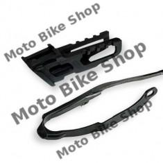 Kit patina+ghidaj bascula lant CRF 450 '02-'8 negru, - Lant transmisie Moto