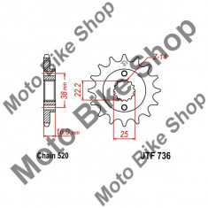 Pinion fata 520 Z15, - Pinioane transmisie Moto