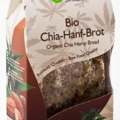 Paine raw cu seminte de chia si canepa bio 90g - Paste fainoase
