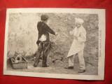 "Ilustrata comica - ""cazut in frisca"" - cu Reclama Magazin inc.sec.XX, Necirculata, Fotografie"